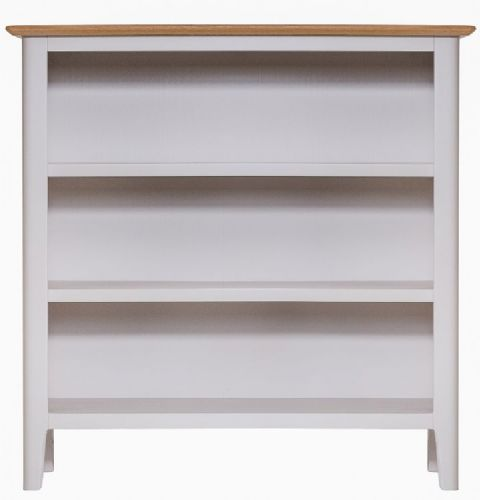 Belmont Painted Small Wide Bookcase